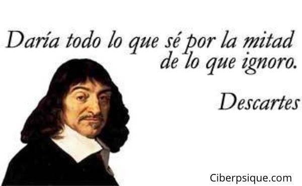 Frase filosófica de Descartes