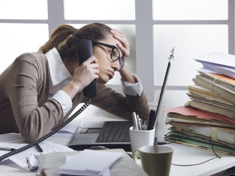 Sufrir estrés en la vida laboral