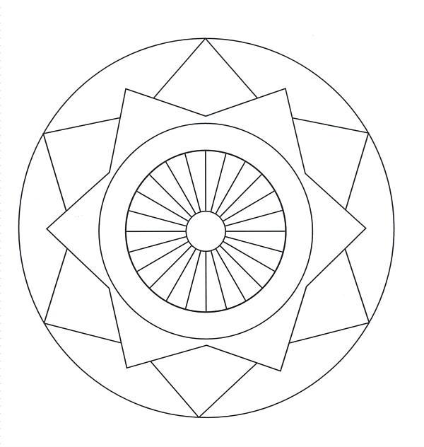 Mandala facil para niños