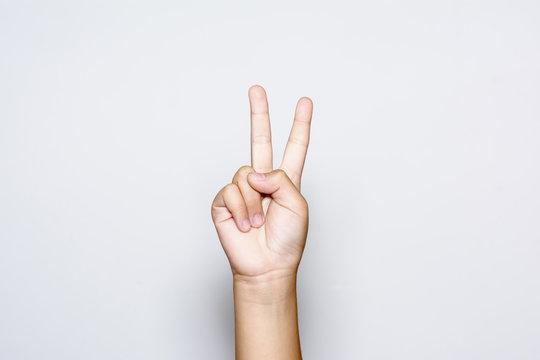 Paz con mano símbolo